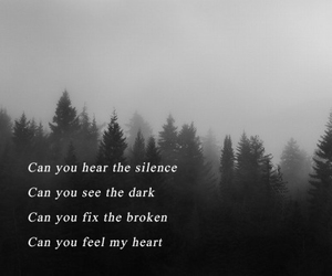 bmth, sad, and can you feel my heart image