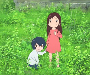 ame, yuki, and wolf children image