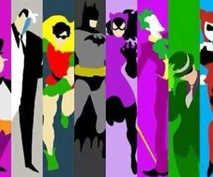 batman, harley quinn, and robbin image