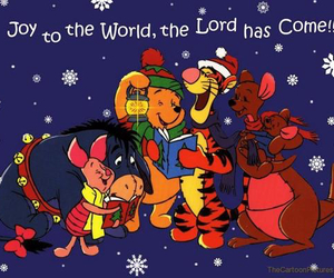 christmas and winnie the pooh image