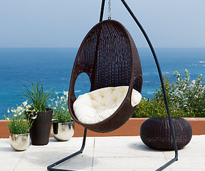 hanging wicker chair, hanging chair outdoor, and indoor hanging chair image