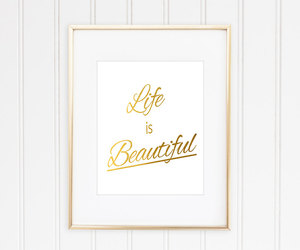 Gold Leaf, home decor, and inspirational image