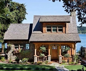 home, architecture, and cottage image