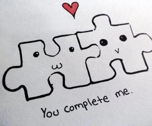 aww, puzzle, and friendship image
