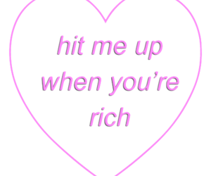 rich, tumblr, and heart image