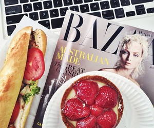 food, magazine, and sandwich image