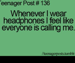 funny, headphones, and me image