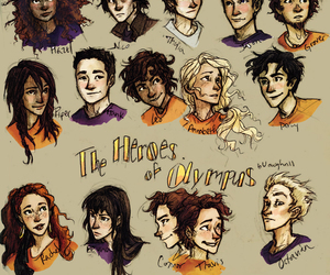 percy jackson, annabeth chase, and the heroes of olympus image