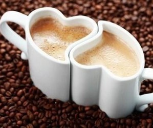 love, coffee, and heart image