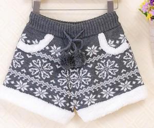shorts, snowflake, and winter image