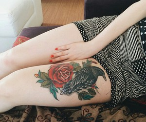 beautiful, pale skin, and red nails image