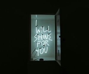 shine, light, and neon image