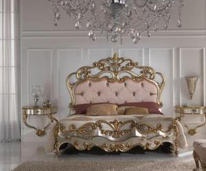 gold, bed, and bedroom image