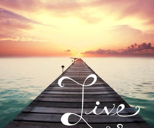 live, life, and sunset image