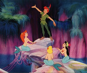 peter pan, mermaid, and disney image