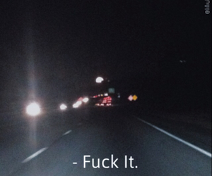 grunge, highway, and moon image