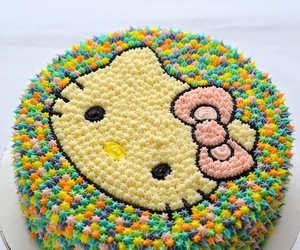 cake, hello kitty, and kawaii image