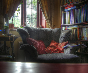 books, reading, and window seat image