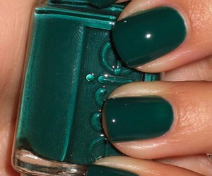 nails, green, and essie image