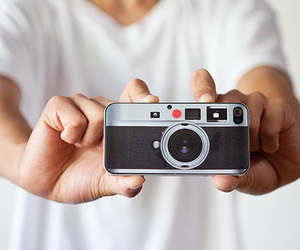 camera, iphone, and white image