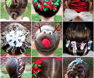 diy, hairstyle, and christmas image