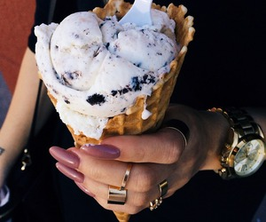 ice cream, food, and nails image