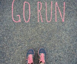 road, go run, and running shoes image