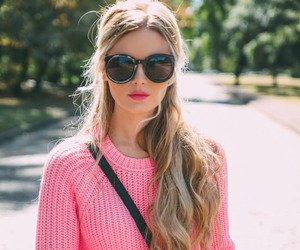 fashion, blonde, and pink image