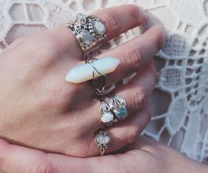 beach, rings, and boho image