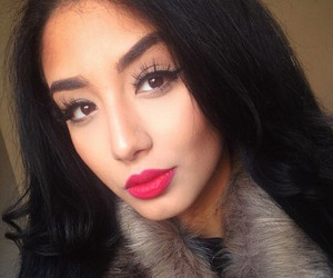 black hair, gorgeous, and lip image