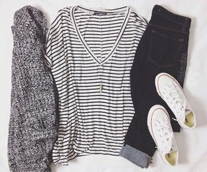 clothes, fall, and converse image