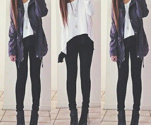 beauty, black sweater, and style image