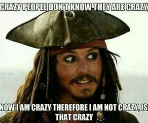 crazy, jack sparrow, and funny image
