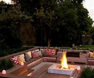 fire, design, and garden image