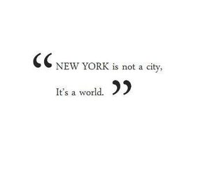 new york, city, and quotes image