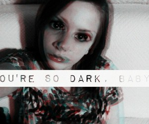 b&w, baby, and dark image