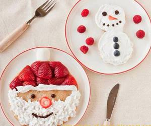 christmas, food, and snowman image