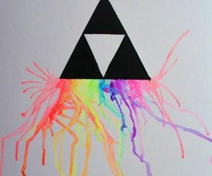colorful, neon, and zelda image
