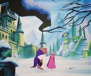 beauty and the beast, belle, and fairytale image