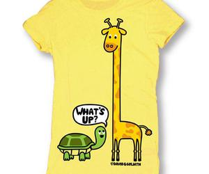 giraffe, t-shirt, and turtle image