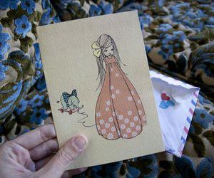 card, vintage, and illustration image