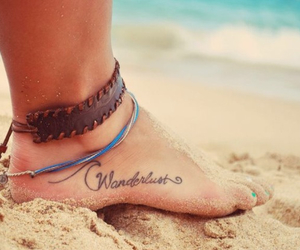 tattoo, feet, and wanderlust image