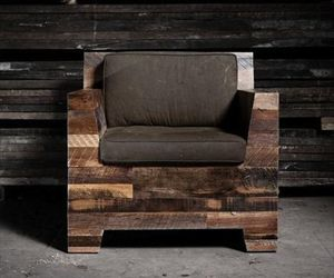 pallet furniture, pallet chair, and pallet armchair image