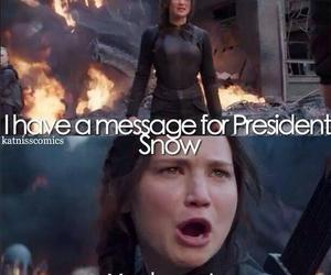 hunger games, president snow, and katniss everdeen image
