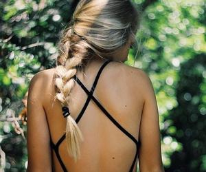 blond, dress, and braids image