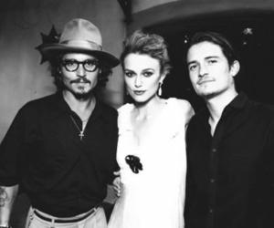 orlando bloom, johnny depp, and keira knightley image