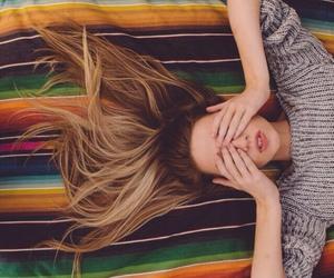 girl, hair, and boho image