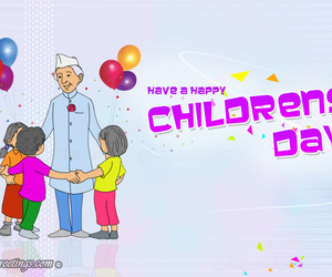 childrens day, happy childrens day, and fancy greetings image