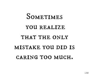 quote, mistake, and care image