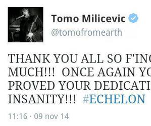 30 seconds to mars, 30stm, and twitt image